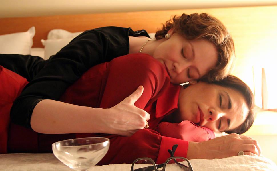 As atrizes Miranda Otto e Glória Pires